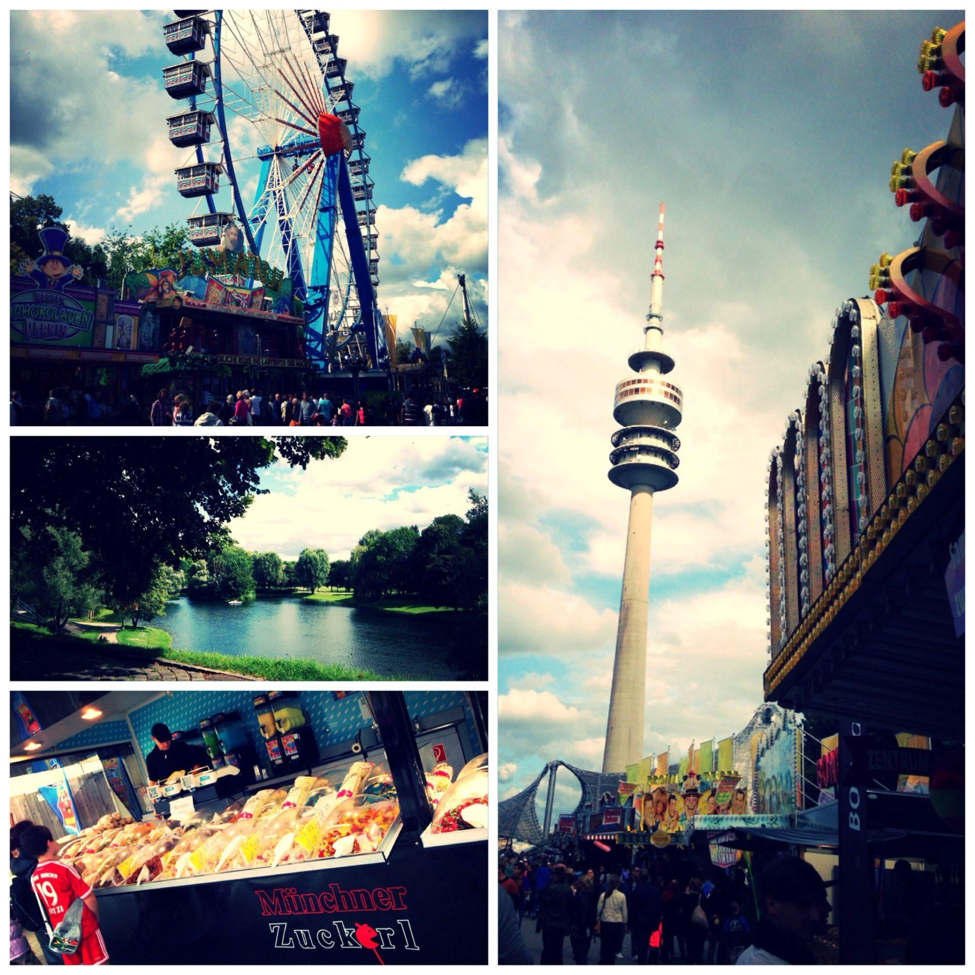 Volksfest sommerfestival olympiapark muenchen