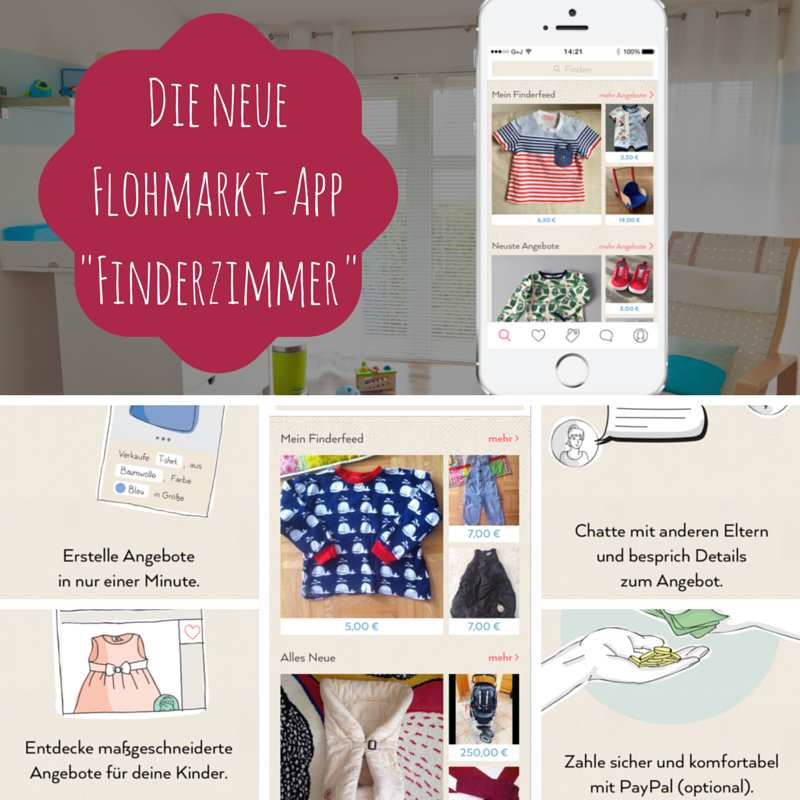 finderzimmer die neue kinderflohmarkt app. Black Bedroom Furniture Sets. Home Design Ideas