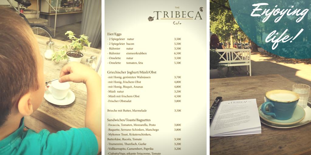 Neuhausen München - Das Tribeca Café mit schöner Terrasse