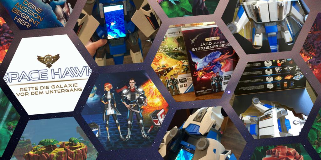 space hawk test erfahrung ravensburger smartphone spiel raumschiff