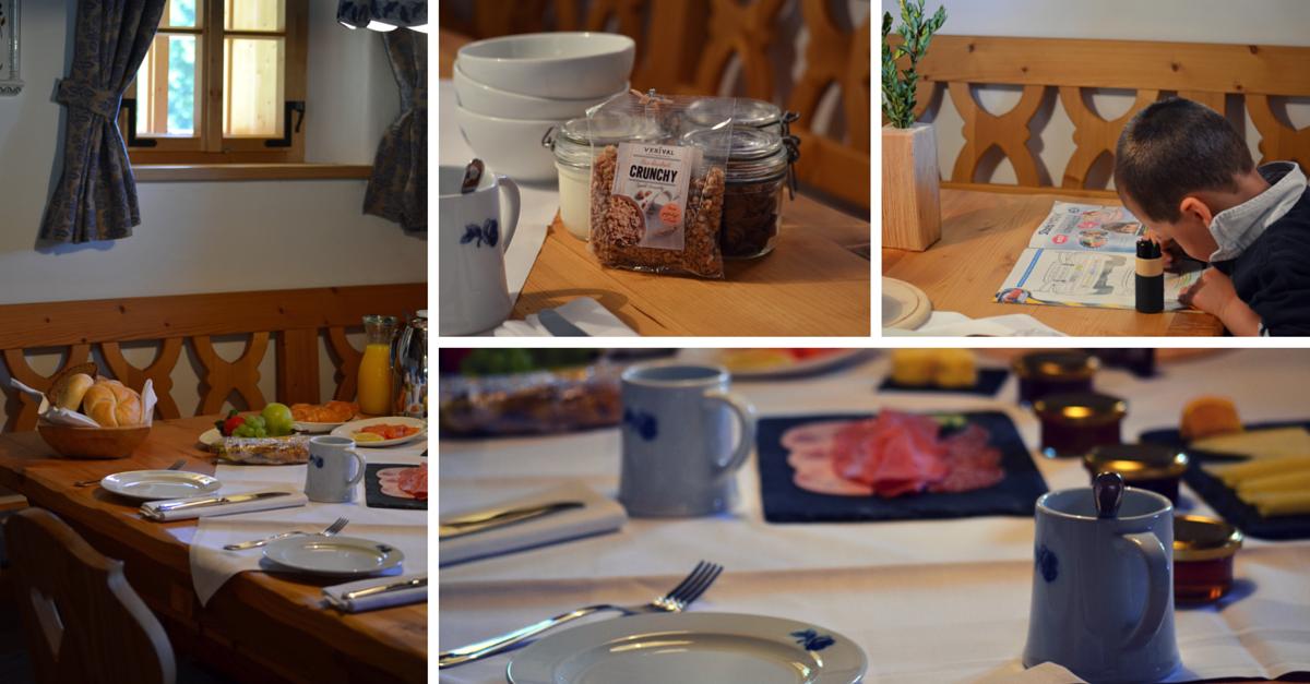 Almdorf Seinerzeit Fruehstueck in Huette Fruehstuecksservice Erfahrung exklusiv