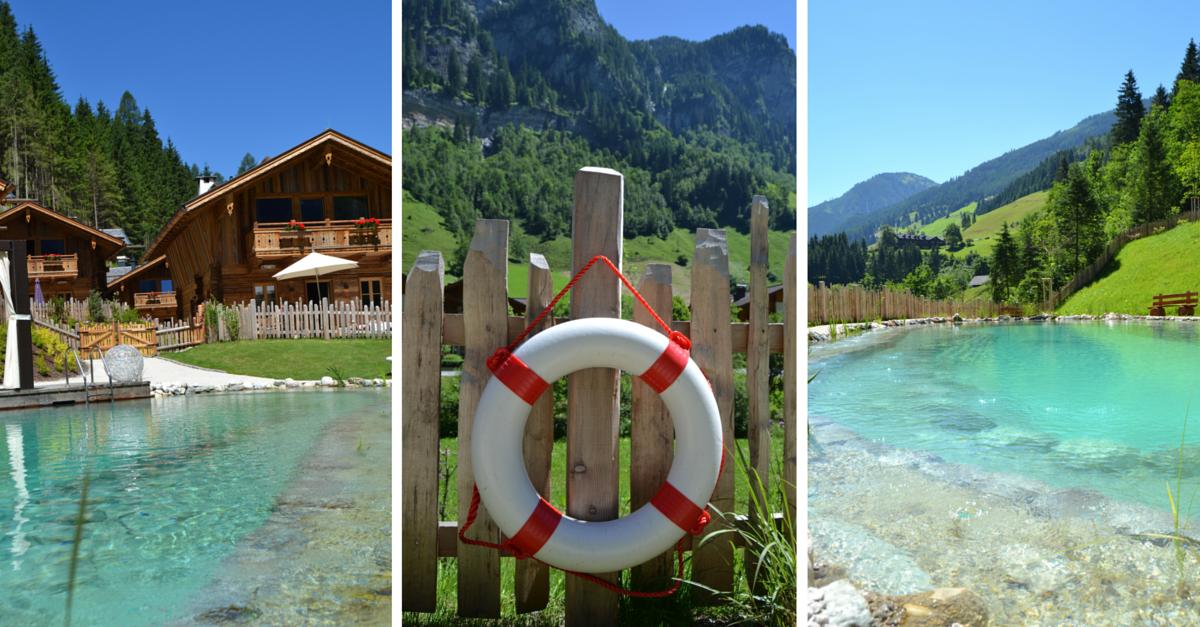 Chaletdorf Auszeit Pool Erholungsteich See