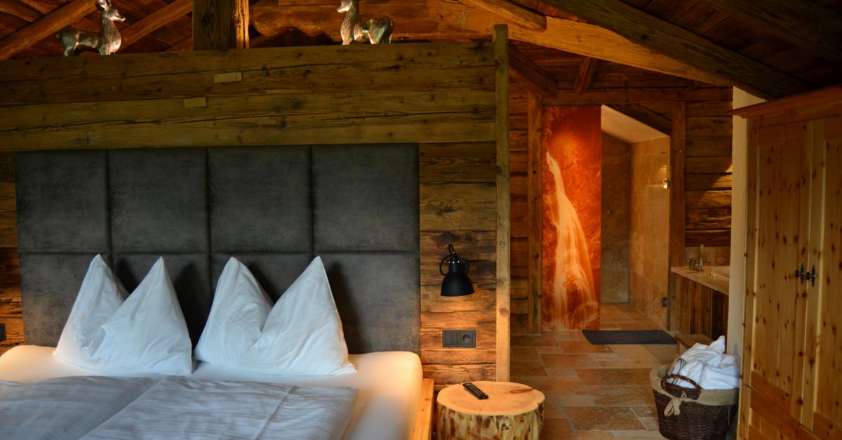 Chaletdorf Auszeit Schlafzimmer Luxus