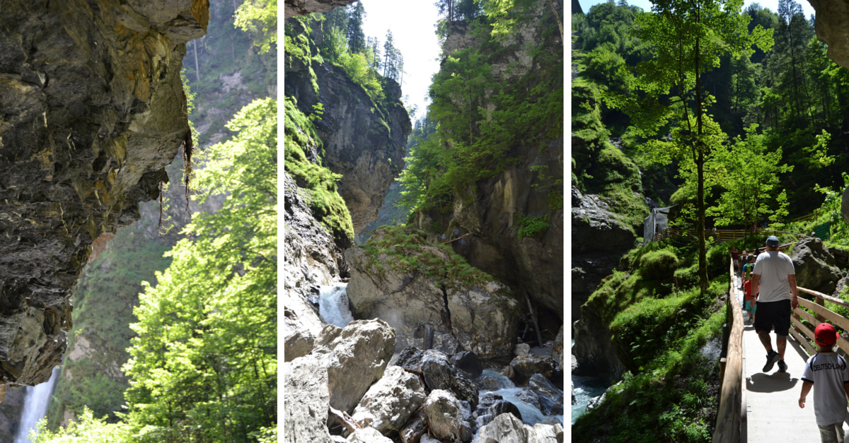 Wandern mit Kraxe Liechtensteinklamm Salzburg