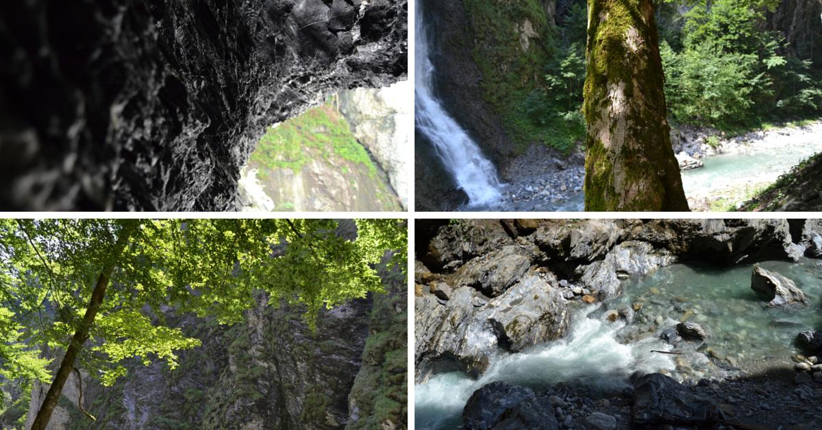 Wanderung Wasserfall Schlucht Liechtensteinklamm
