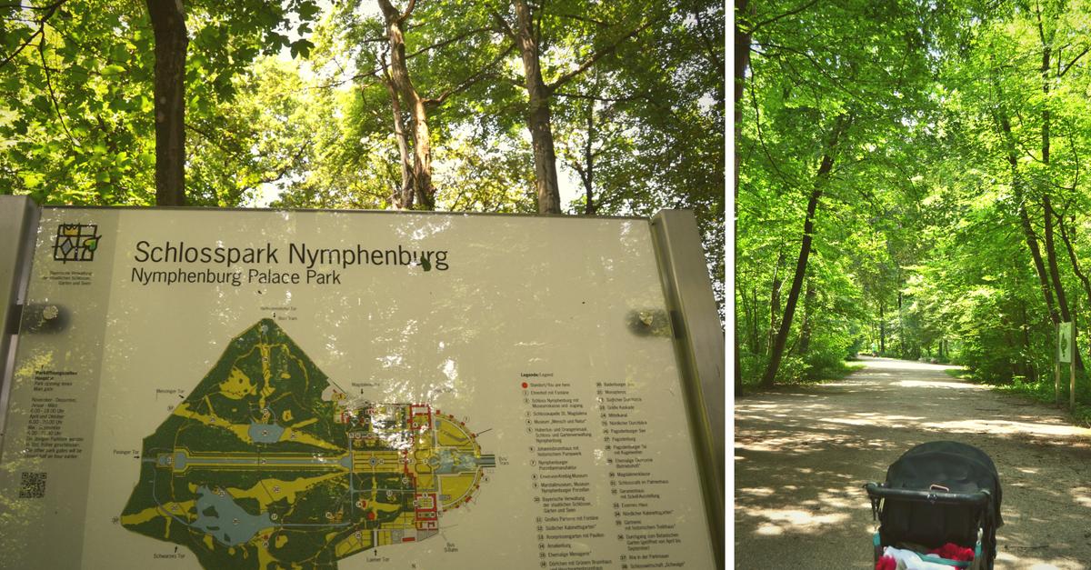 Nymphenburger Schlosspark mit Kindern