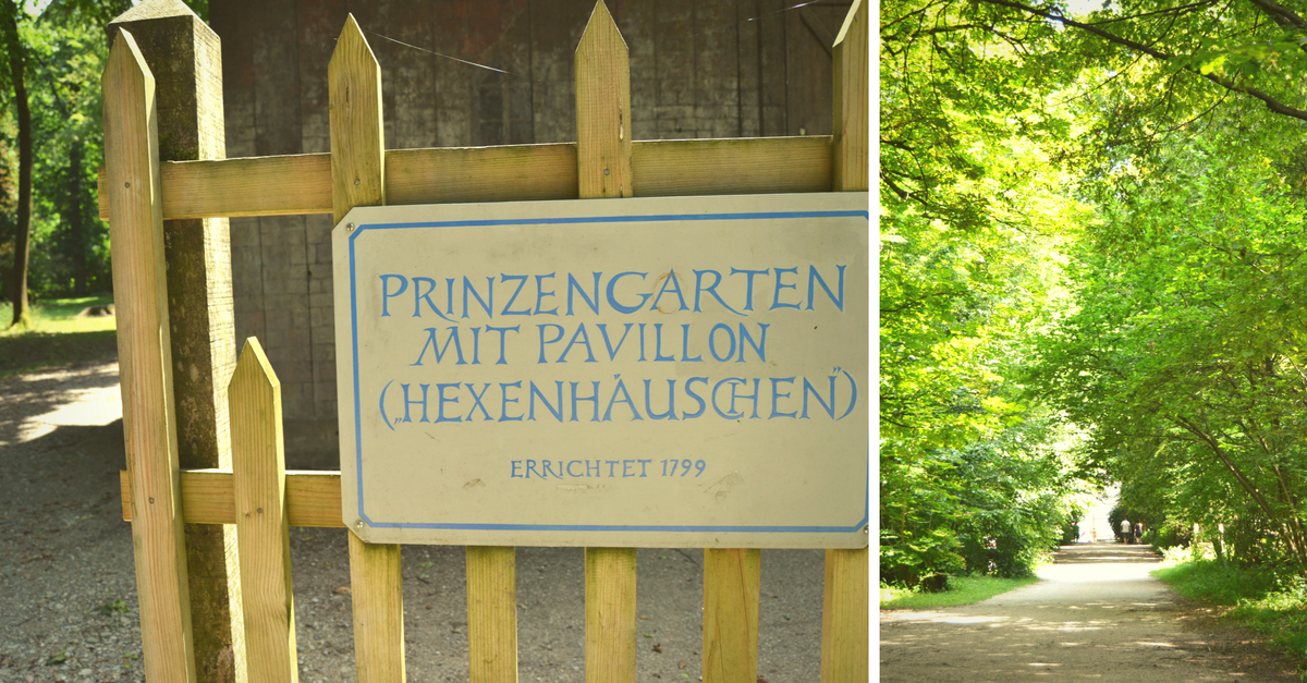 Prinzengarten Hexenhaeuschen Nymphenburger Park Wasserspielplatz