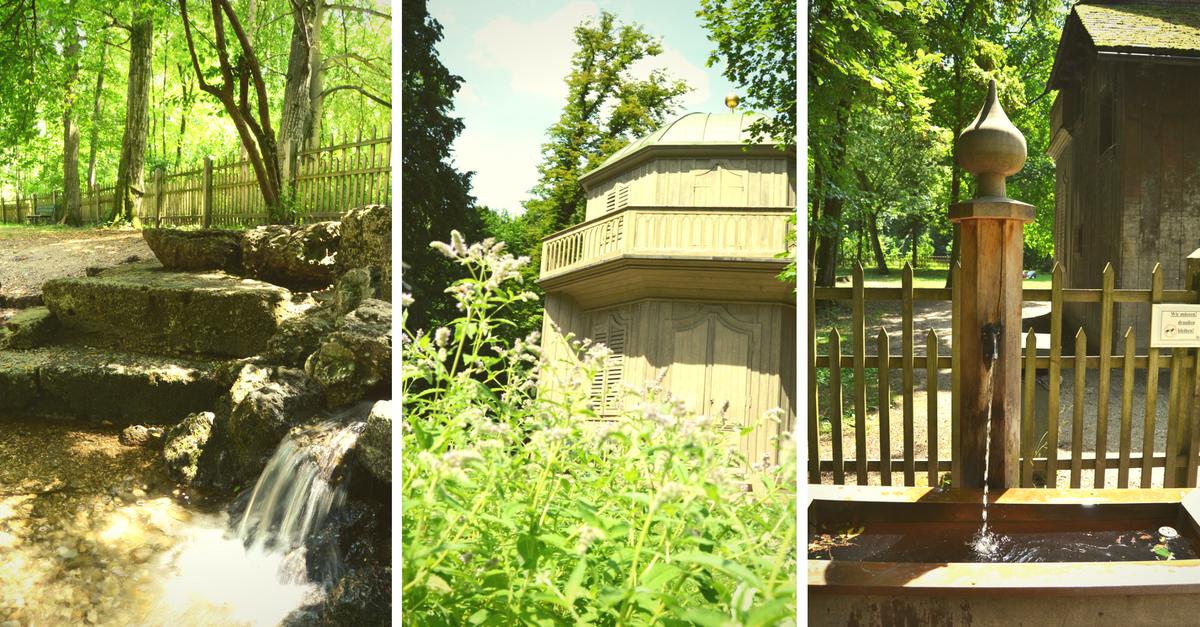 Prinzengarten Nymphenburger Park Wasserspielplatz
