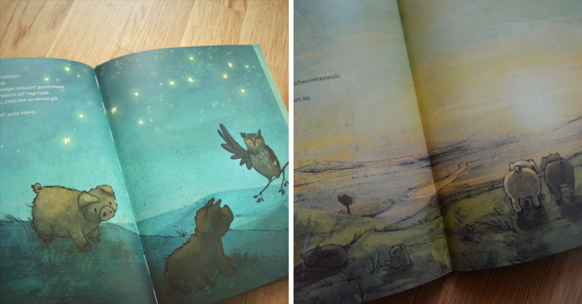 Kinderbuch Wollschweine Kruemel und Fussel