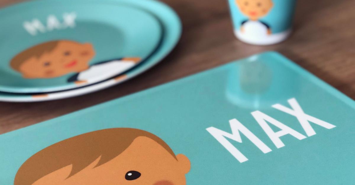 Littleli - Kindergeschirr mit Namen und Bild des Kindes