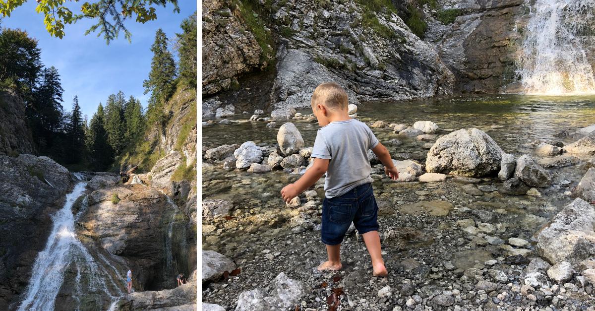 Wasserfall Jachenau mit Kindern