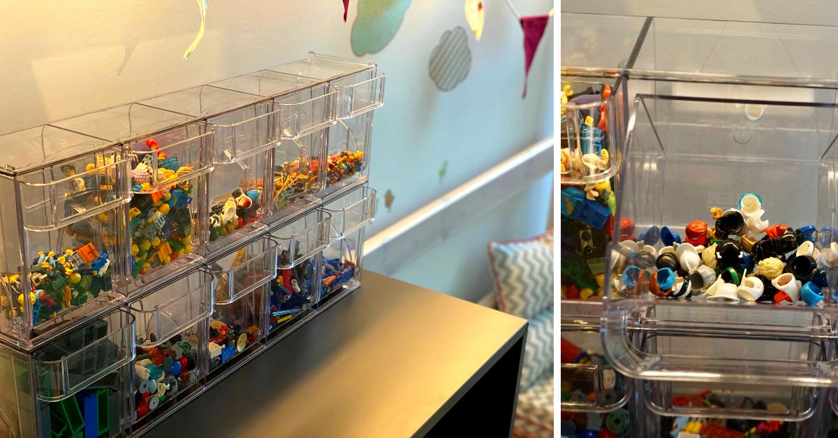 Lego sortieren Kisten