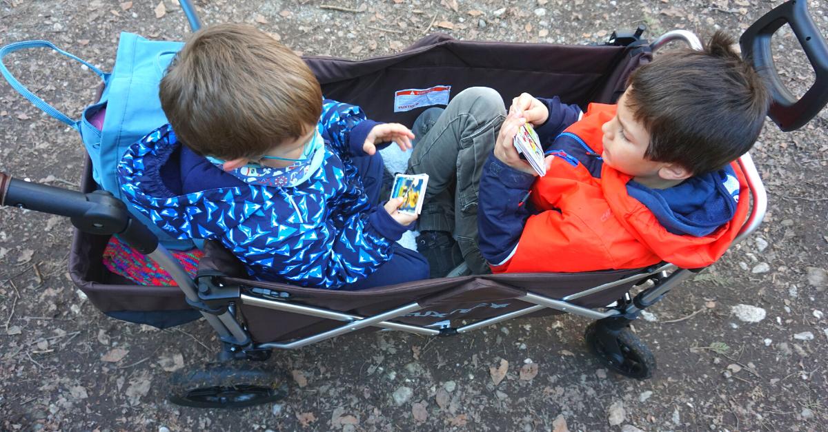 Bollerwagen zwei Kinder